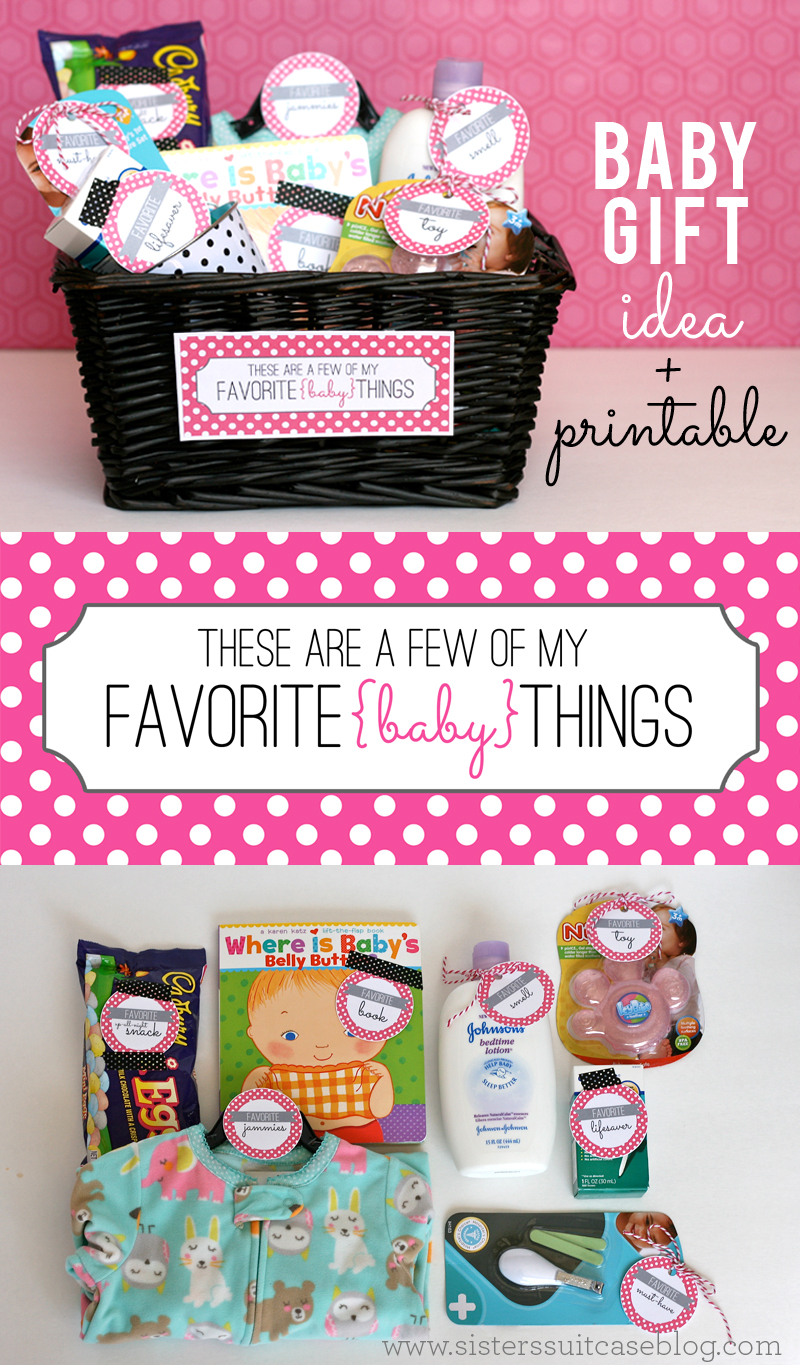 Baby Gift  Printable Tags Favorite Things  My Sisters Suitcase  Packed with Creativity