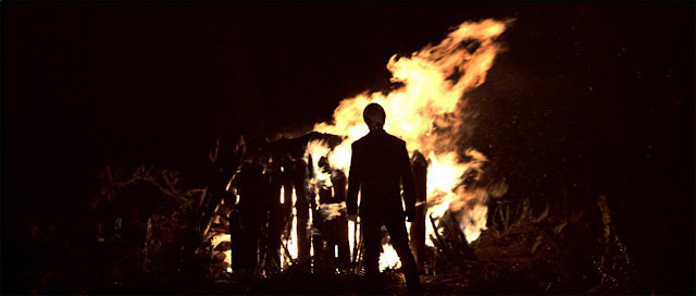 Darth Vader burning on Endor.