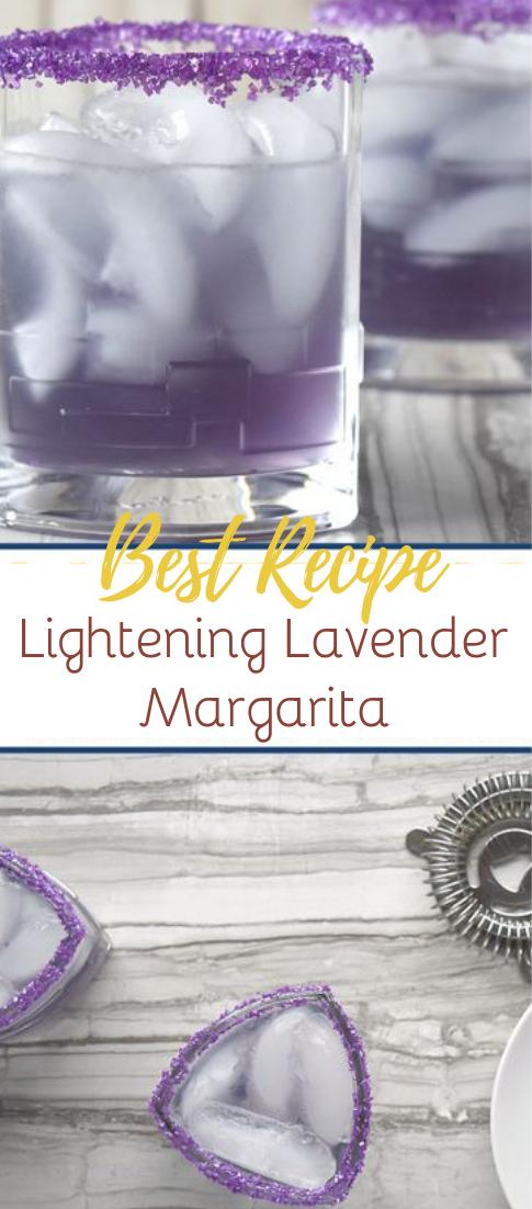 Lightening Lavender Margarita #healthydrink #easyrecipe