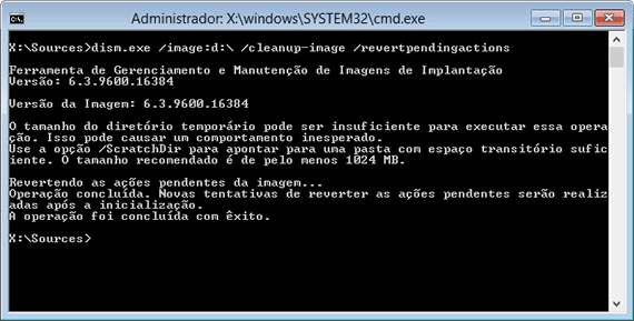 Reparando a inicialização do Windows 10