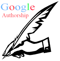 Google Authorship Program with pen icon
