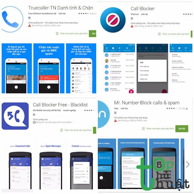 Top 5 ứng dụng chặn cuộc gọi spam cho điện thoại Android
