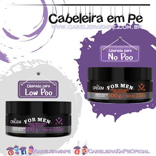 Pomadas Modeladoras Efeito Brilho (Low Poo) e Efeito Mate (No Poo) - Origem