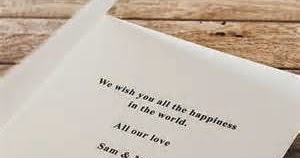 All About Wedding Information Wedding Cards Composing The Ideal Wedding Card Messages