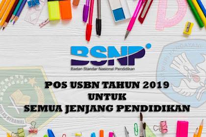POS USBN 2019 Semua Jenjang Sekolah atau Madrasah