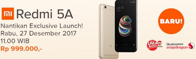 Penjualan Pedana Xiaomi Redmi 5A di Lazada Indonesia