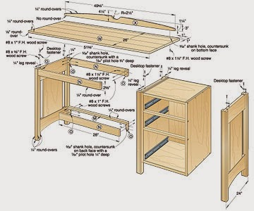 Joe The Carpenter: Create DIY Computer Desk Plans