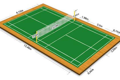 Ukuran Lapangan Badminton dan Tinggi Net Standar Nasional Internasional