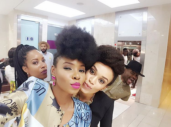 photo of yemi alade in south africa at her birthday party