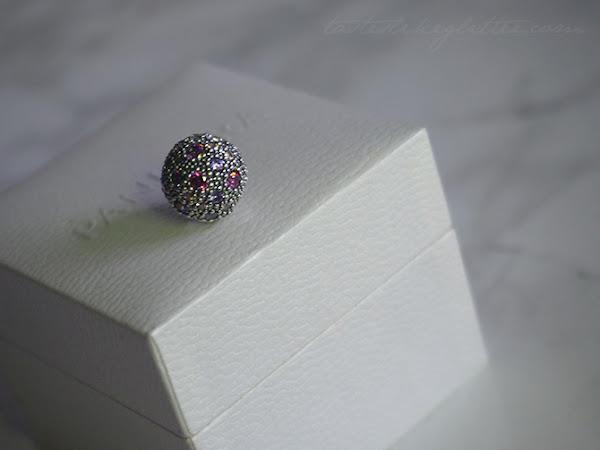 Pandora Fancy Purple Cosmic Stars Clip.