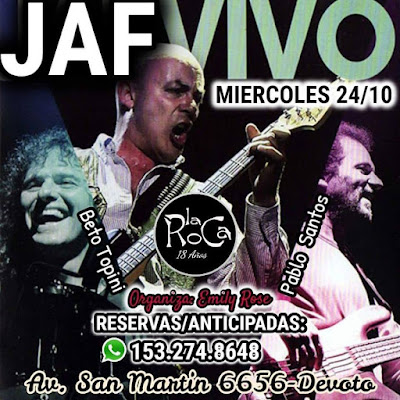 Miercoles 24 de Octubre - JAF en La Roca, Avda San Martin 6656 - Devoto.
