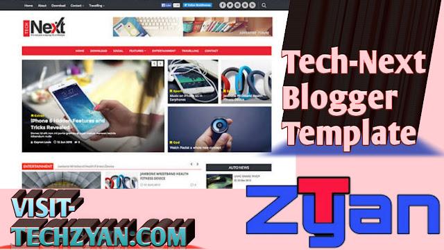 Tech-Next Blogger Template