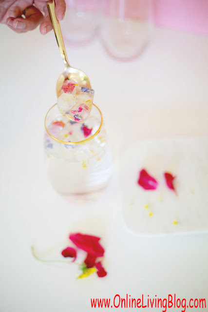How To Make Edible Flower Ice Cubes: DIY