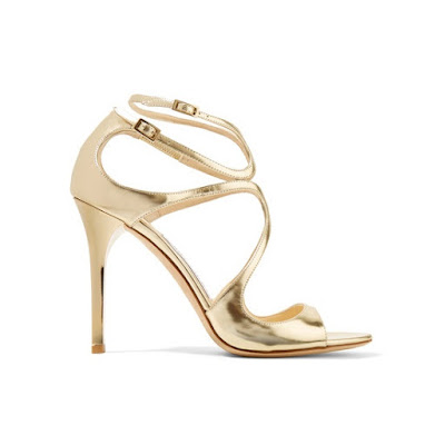 Jimmy Choo Gold Metallic Leather Sandals