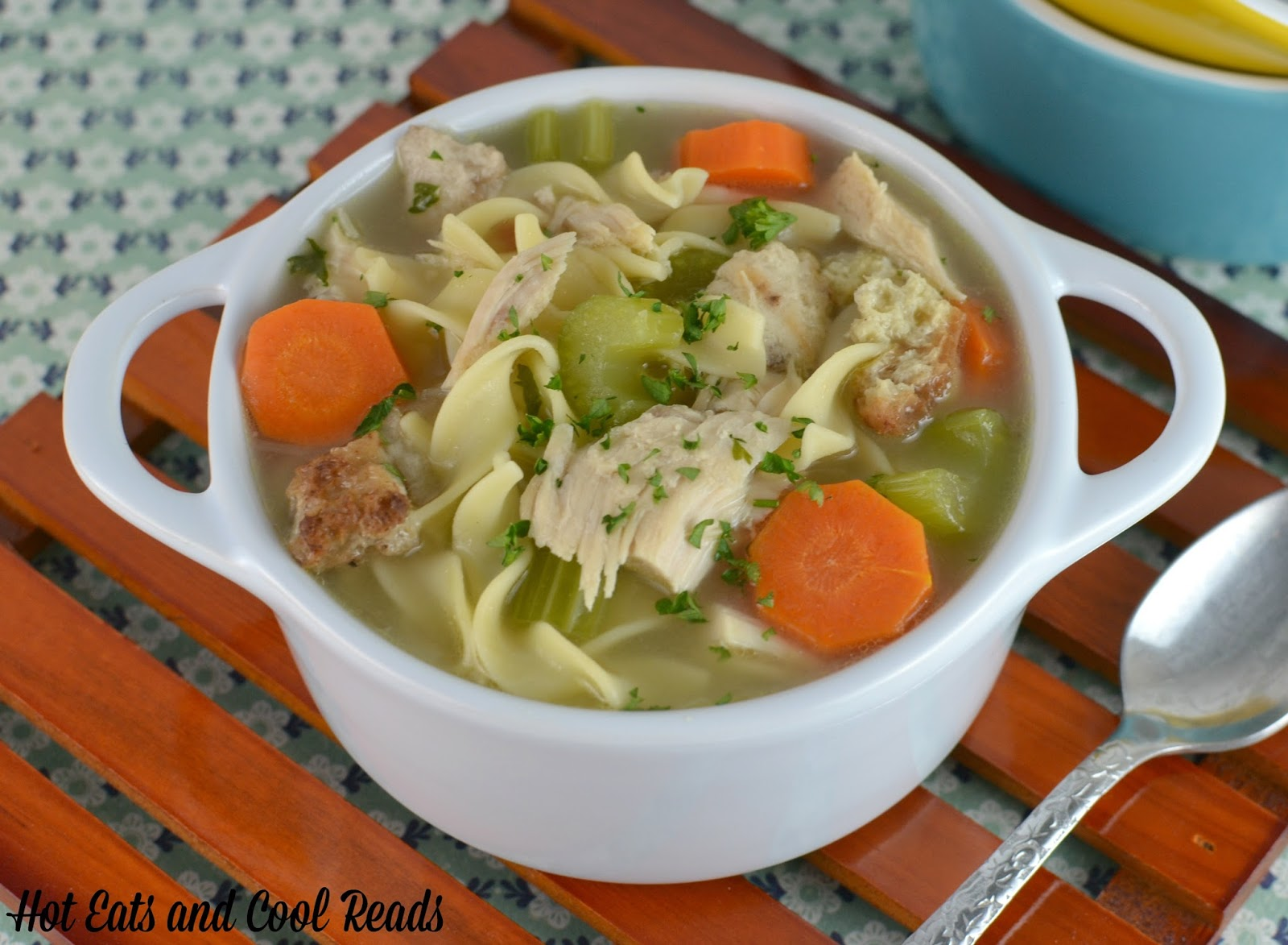 ... Eats and Cool Reads: Roasted Turkey and Stuffing Noodle Soup Recipe