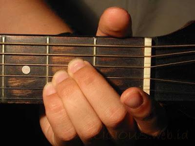 Cara Menekan Senar Chord A Major