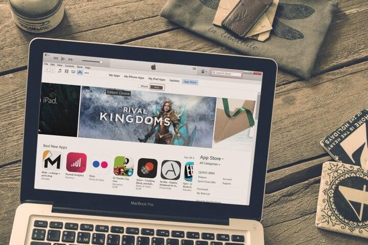 Homepage App Store pada Mac