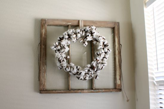 Antique Window + Cotton Wreath - Away She Went