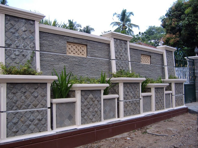 gambar pagar batu alam