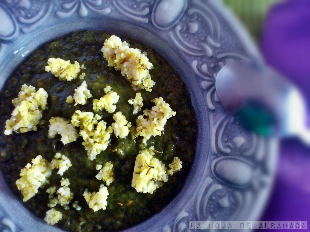 Crema de mijo con verduras