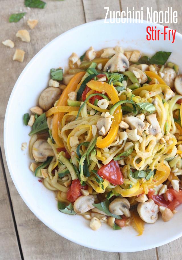 Zucchini Noodle Stir-Fry by SeasonWithSpice.com