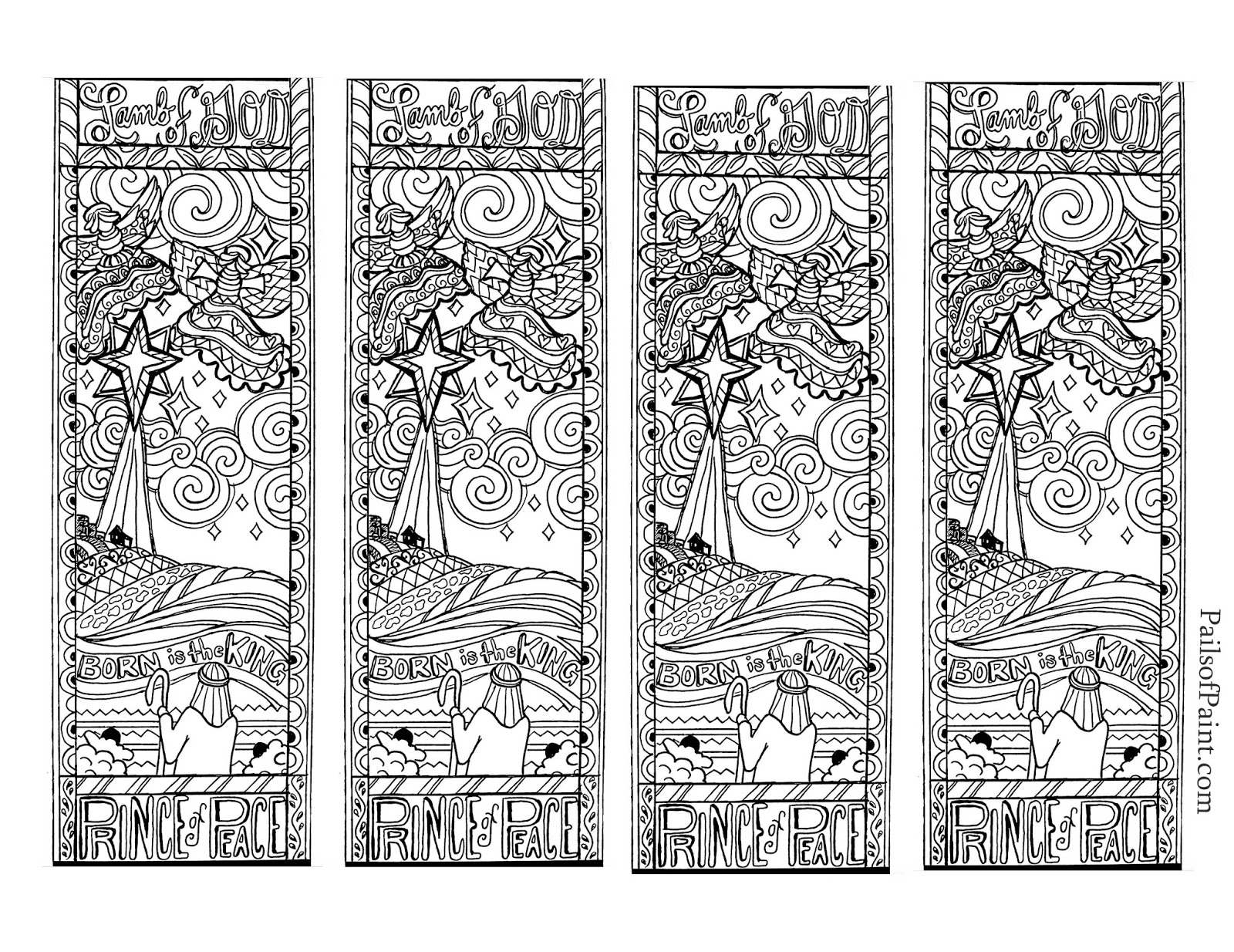 Free coloring christian bookmarks : Bookmark templates pdf format free printable christmas bookmarks