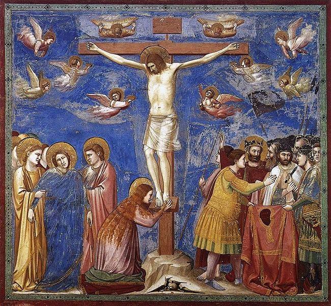 Crucificação - Giotto di Bondone e suas pinturas ~ Primeiro a introduzi a perspectiva na pintura