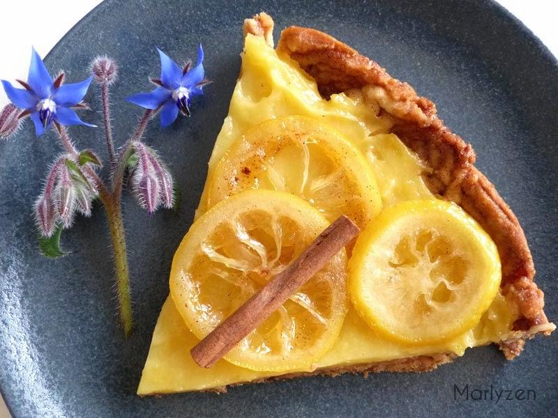 Tarte au citron et à la cannelle.