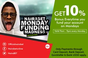 Get 10% Funding Nairabet Account Every Monday