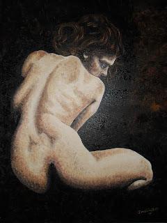 Arte Figurativo, impresionismo, desnudo al oleo artista J Marin, Pintor Jorge A. Marin