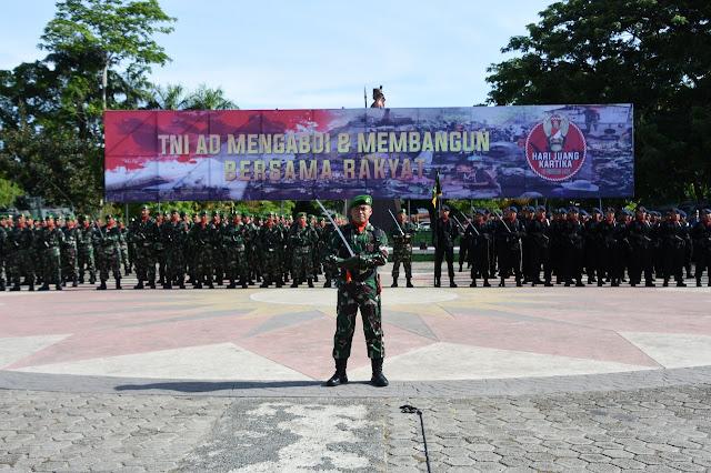 Peringatan HUT HJK TNI AD se Kodam XIV/Hsn di Bone, Dihadiri Wagub Sulsel. Ini Sambutan Kasad