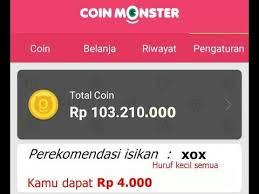 Cara Mudah Dapat Pulsa Gratis Dari Coin Monster Melalui HP Android