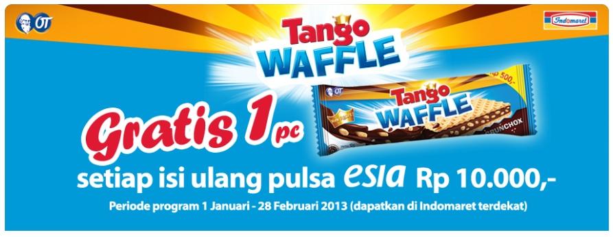 Isi Ulang Pulsa Esia Berhadiah Wafer Tango Waffle Popular