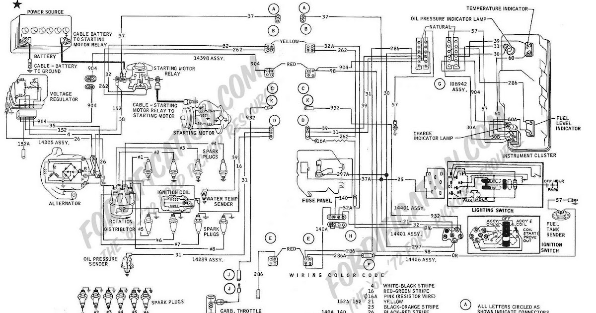 1969 ford f100-f350 ignition, starting, charging, and ... 1969 ford f 350 wiring schematic 1969 ford f 350 wiring diagram lamp