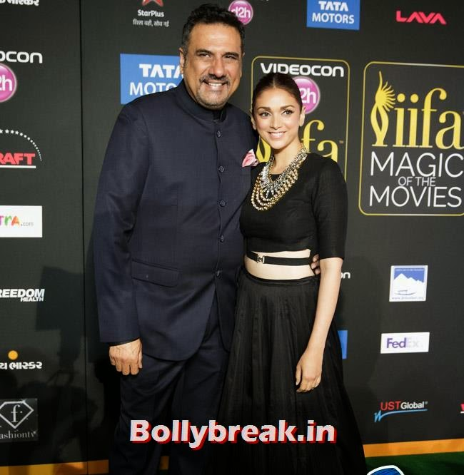 Boman Irani and Aditi Rao, IIFA Awards 2014 Pics