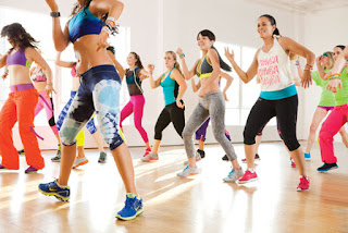Zumba group exercise fitness class
