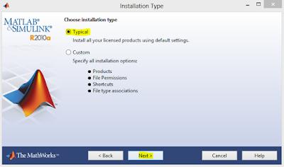 Memilih mode Typical untuk melakukan instalasi secara default