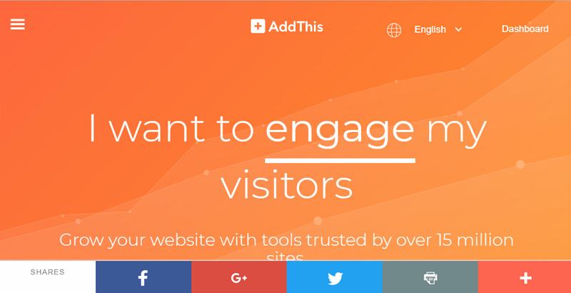 AddThis 添加社群網站分享按鈕