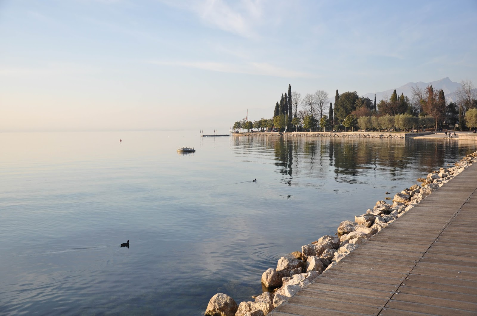 The promenade, Bardolino, Lake Garda, Italy