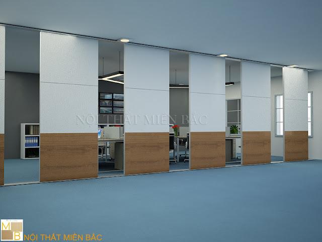 Dòng vách ngăn di động không chỉ mang đến một nét đẹp tinh tế mà nó còn mang đến những ưu điểm nổi bật cho không gian văn phòng