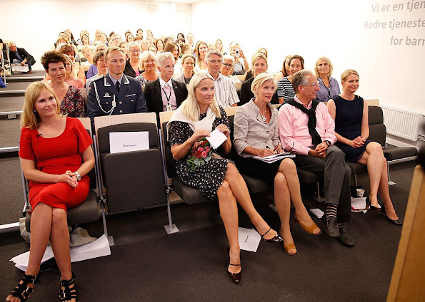 Princess Mette-Marit attended the conference The Early Years - Why Quality of Day Care Matters in Oslo
