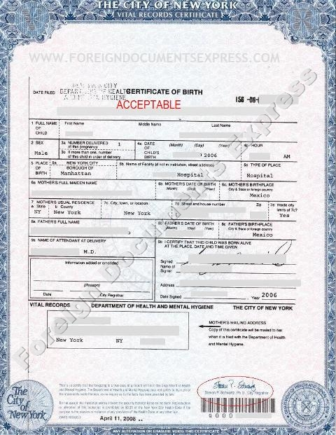 Birth Certificate Sample | oakandale.co