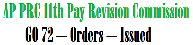 AP PRC 11th Pay Revision Commission APPOINTMENT - GO 72 – Orders – Issued