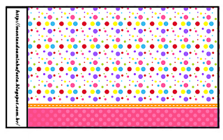Sweet 16 Colored Dots for Girls Free Printable Labels.