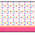 Sweet 16 Colored Dots for Girls: Free Printable Candy Bar Labels.