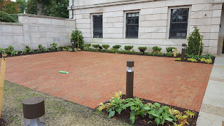 brick patio with commemorative bricks. Did you buy one?