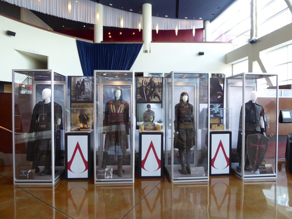 Assassins Creed film costume prop exhibit
