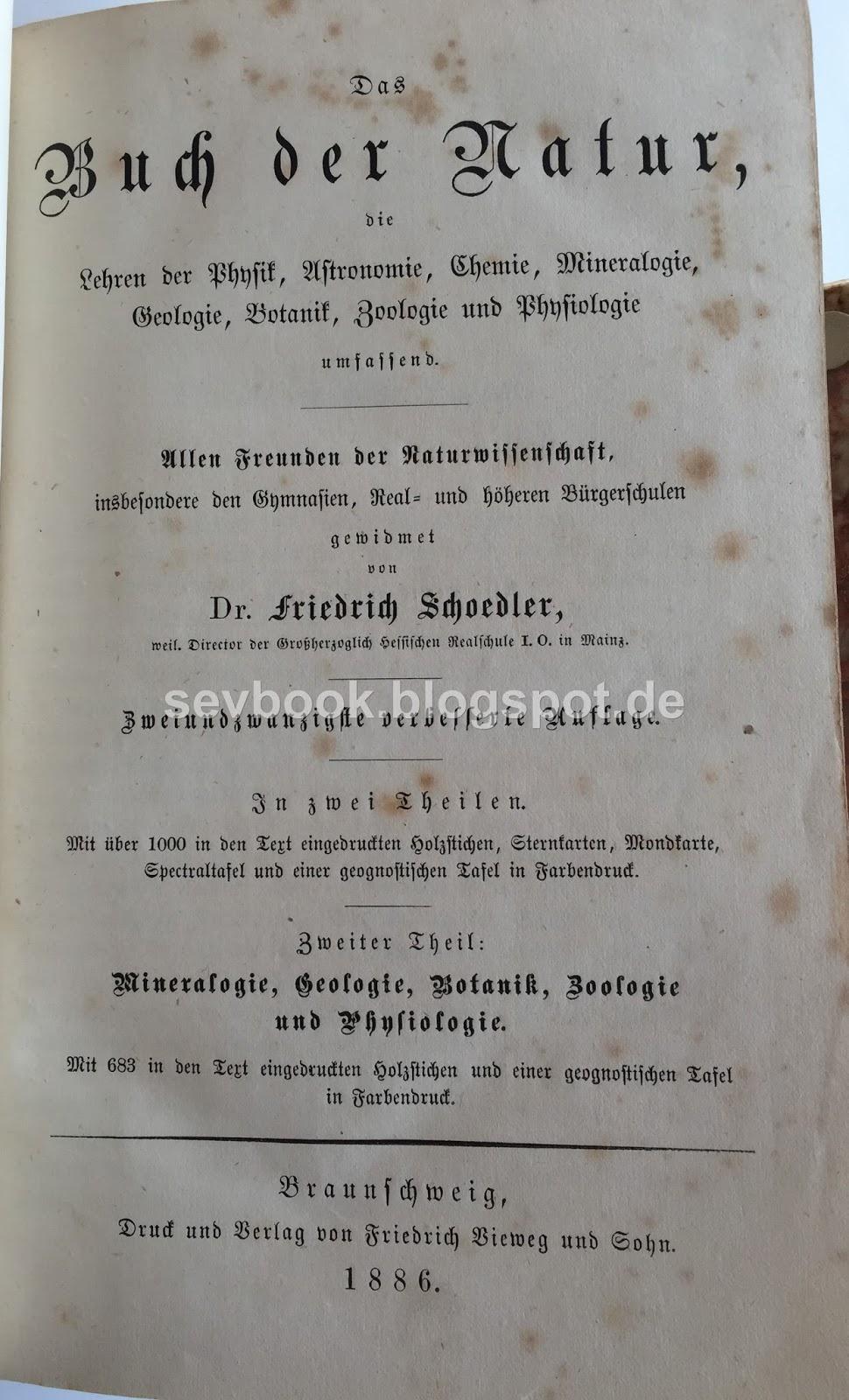 Books which deserve a second chance .. : Das Buch der Natur ...
