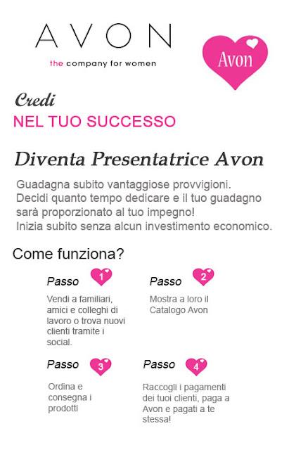 Diventa Presentatrice Avon Italia. Scopri come diventare presentatrice Avon. Informati sul lavoro Avon.it!