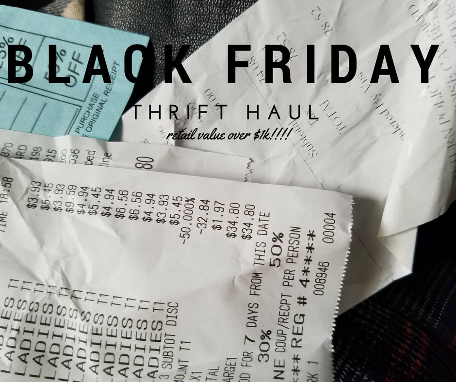 black friday thrift haul